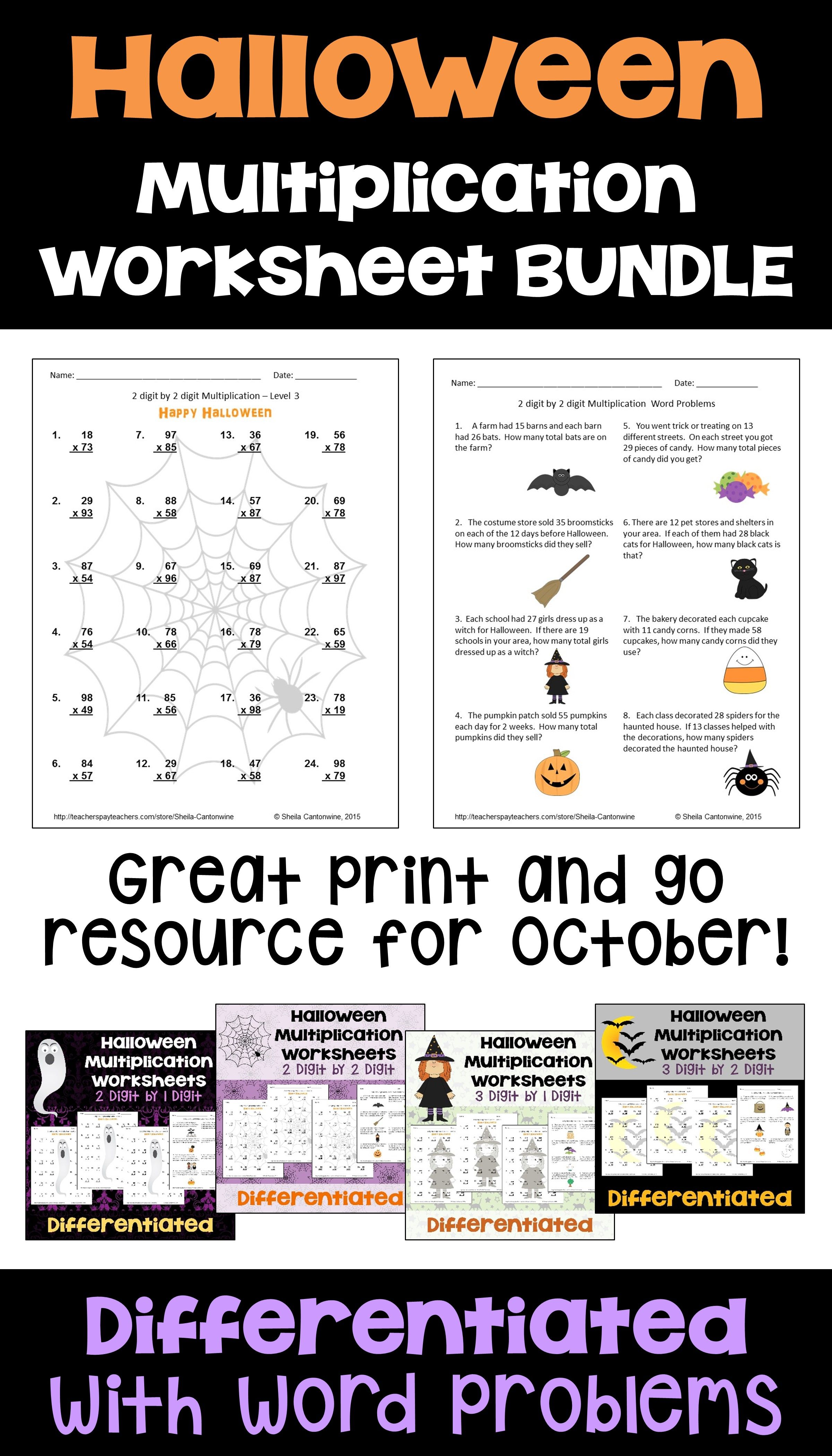 Halloween Math Is Fun For Kids With These Printable Multi Digit Multiplication Workshee Multiplication Worksheets Halloween Math Math Multiplication Worksheets [ 4200 x 2400 Pixel ]