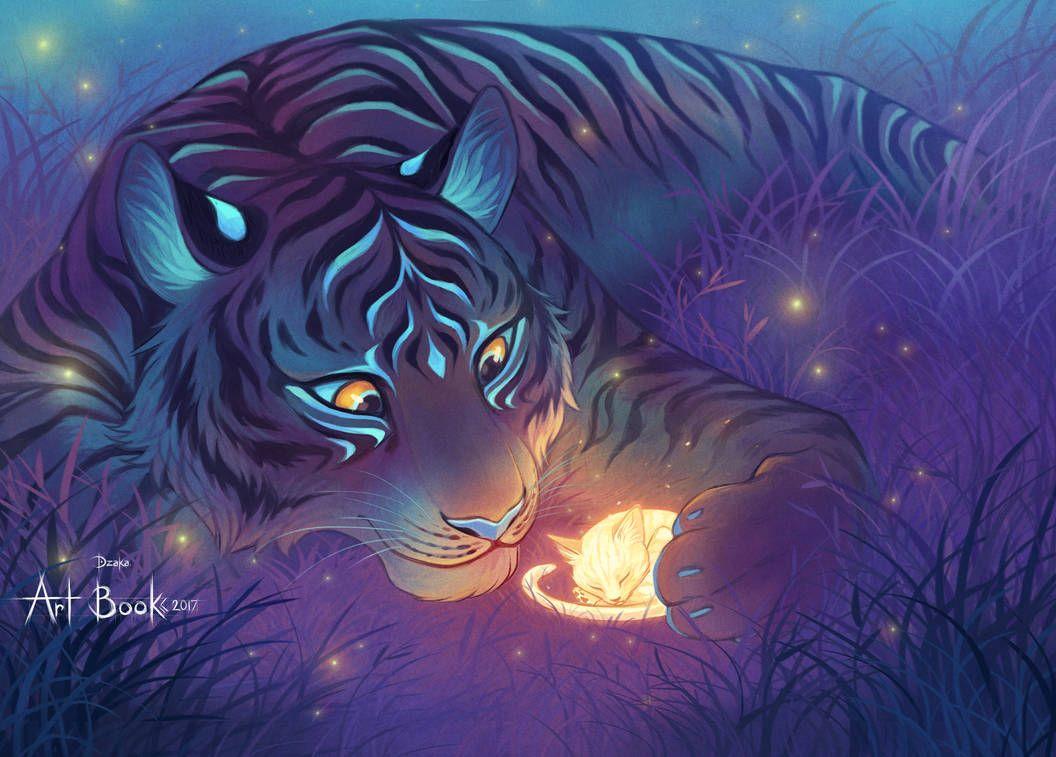 Doux Geant Au Coeur Pur By Https Www Deviantart Com O0dzaka0o On Deviantart Big Cats Art Mythical Creatures Art Animal Drawings