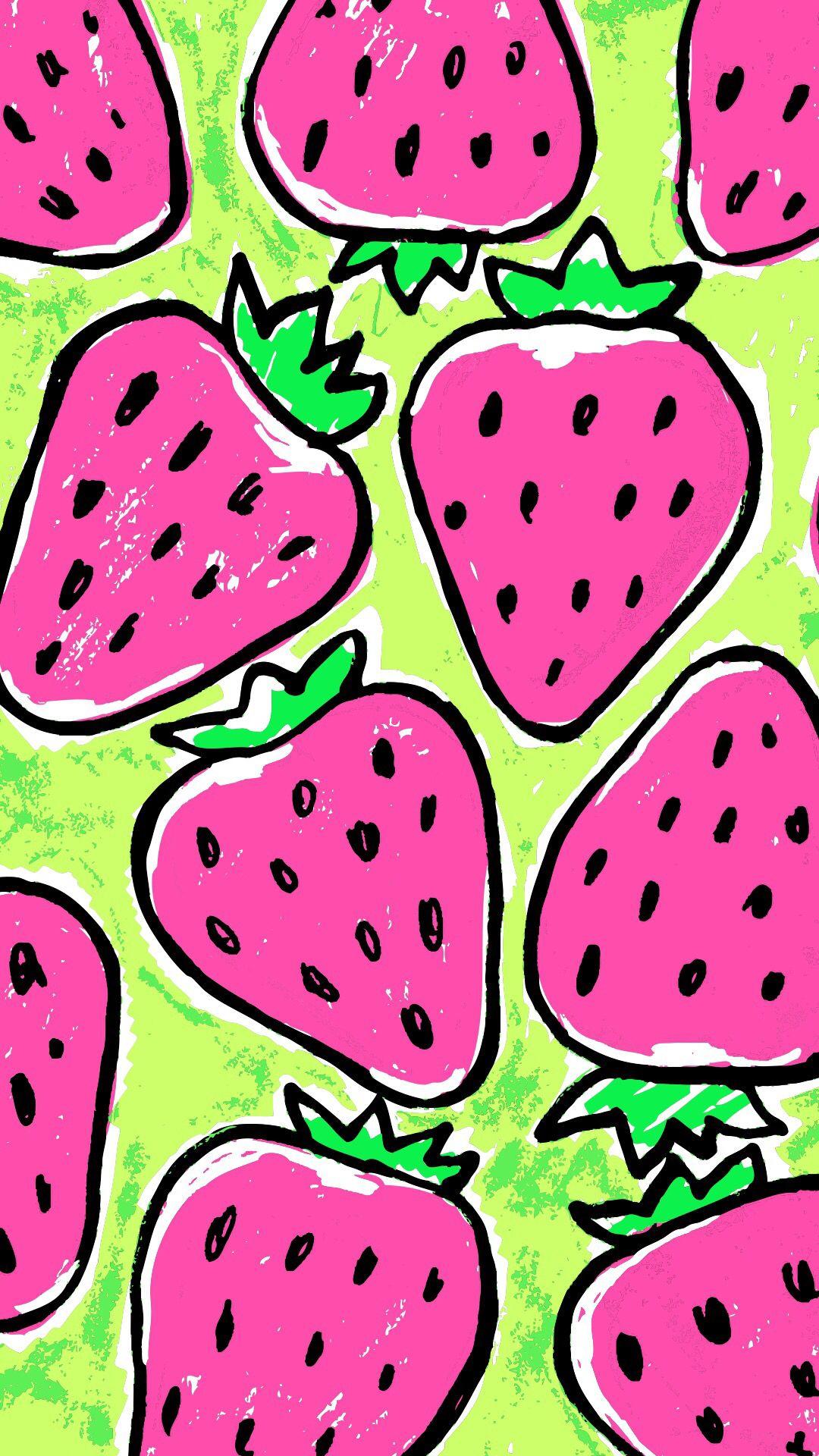 Strawberries home screen | Imágenes fondo de pantallas ...