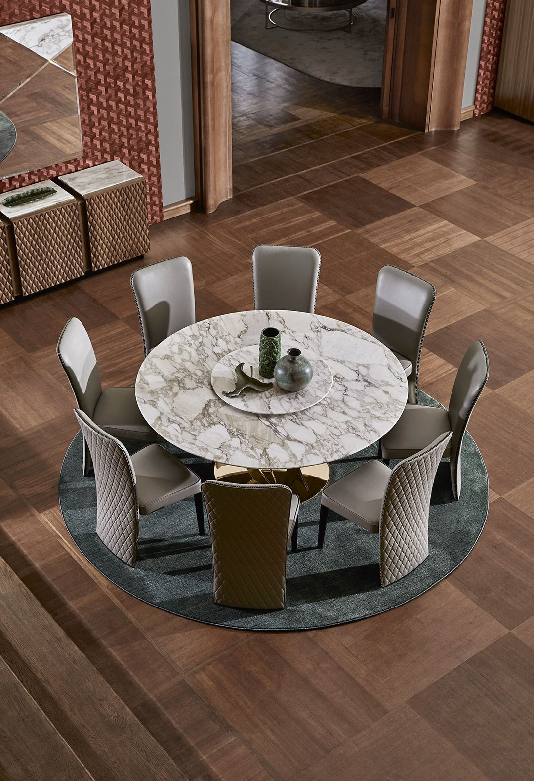 OPERA CONTEMPORARY: WENDY #table The round table top in mar … – Contemporary Designers Furniture