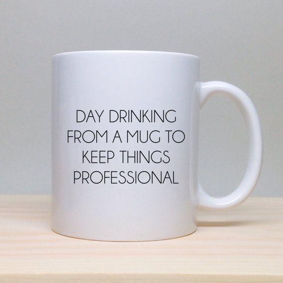 Mug caf dr le cadeau unique id e cadeau par thecoffeecorner mugs pinterest caf dr le - Cadeau utile et drole ...
