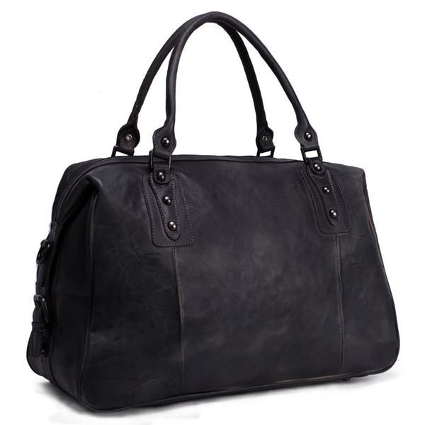 6e7010bd09 ROCKCOW Leather Duffel Bag for Men and Women Travel Luggage Gym Briefcase  Bag 9029