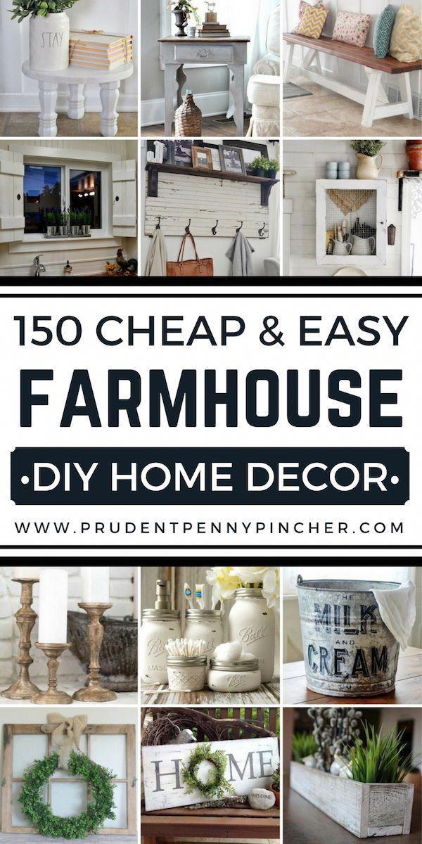 150 Cheap and Easy DIY Farmhouse Decor Ideas images