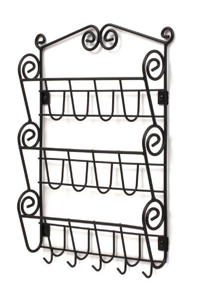 Spectrum 43310 Wall-Mount Scroll Letter Holder, Black:Amazon:Home & Kitchen