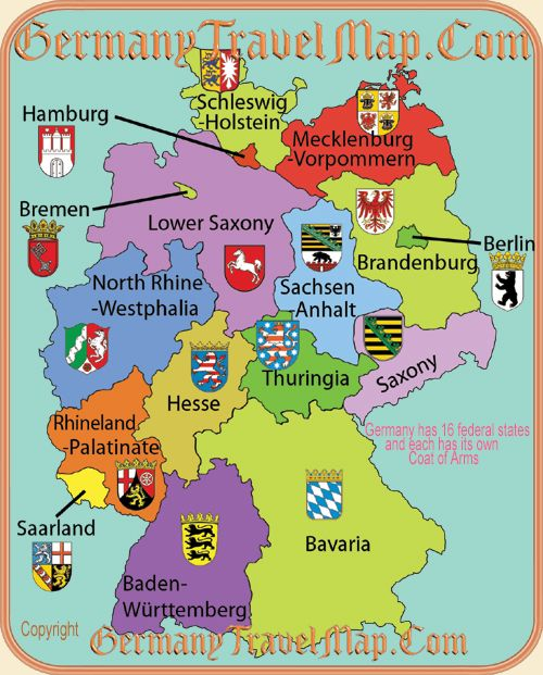 a map of German states | German | Pinterest | Search, Image search ...