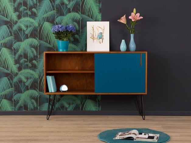 exklusives sideboard kommode 60er vintage wk hairpin. Black Bedroom Furniture Sets. Home Design Ideas