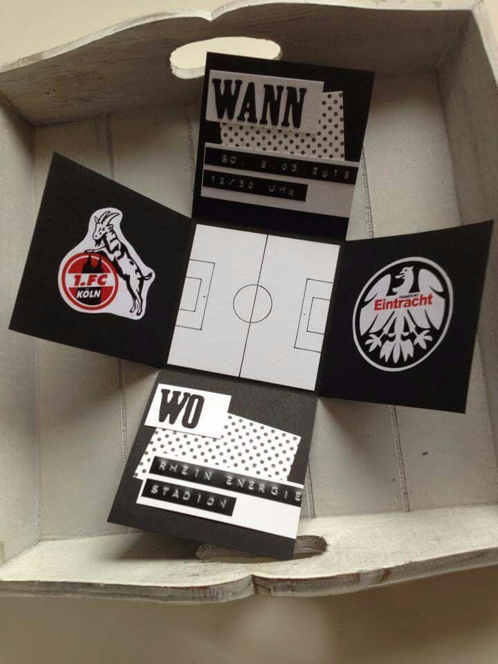 Gutschei f r fussball karten geschenkideen pinterest for Pinterest geburtstagskarte