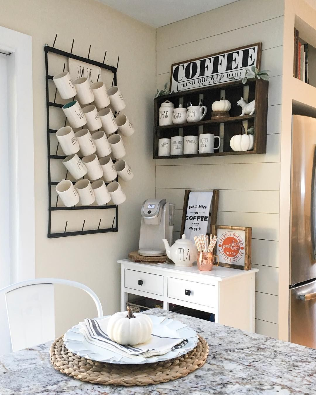 (@oak.hill.farms) (With images) | Coffee nook, Kitchen ...