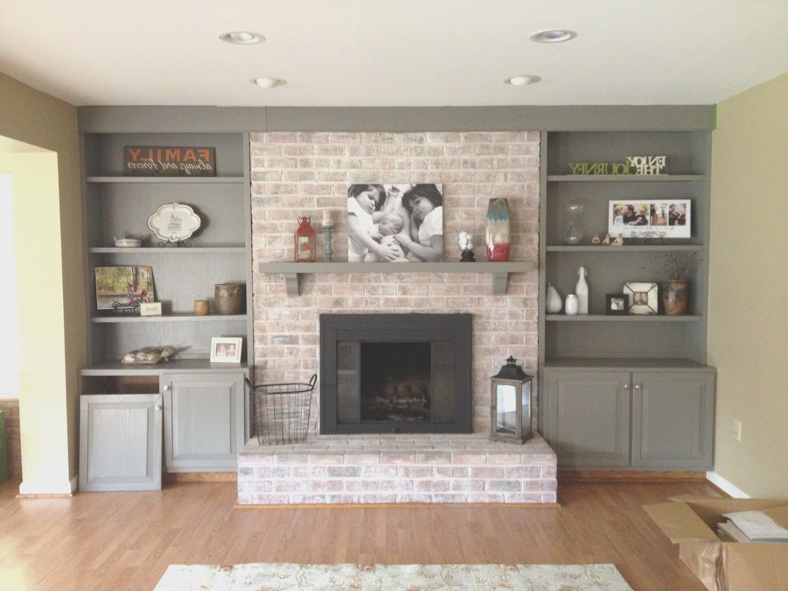 Marvelous Ideas Diy Built In Cabinets Around Fireplace Precious Free Plans Shelves Cost
