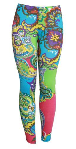 9ab3a9d35fadf Multicolored Psychedelic Paisley Patterned Ladies Leggings Tights Ladies  Leggings, Tight Leggings, Paisley Pattern,