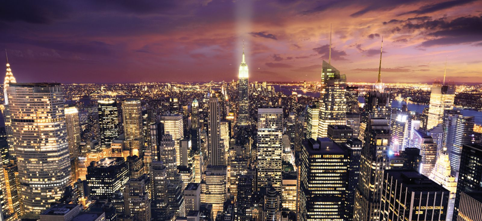 New York Skyline Wallpaper Mural For Wall 1600x733 45 Wallpapers