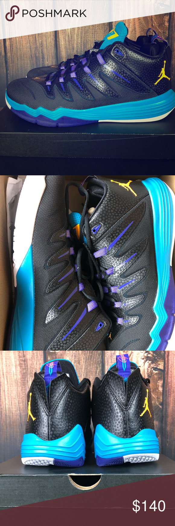 pretty nice 2d946 d35c7 New Jordan CP3.IX Black Laser Orange-Blue Lagoon Brand new with box Chis  Paul s. I ship everything next business day. Jordan Shoes Athletic Shoes