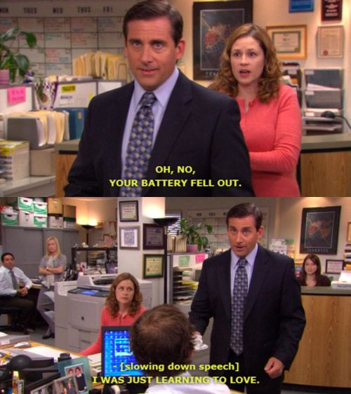 The Office Cafe Disco Quotes: The Office Pam Taking Michael's Battery Out In Cafe Disco
