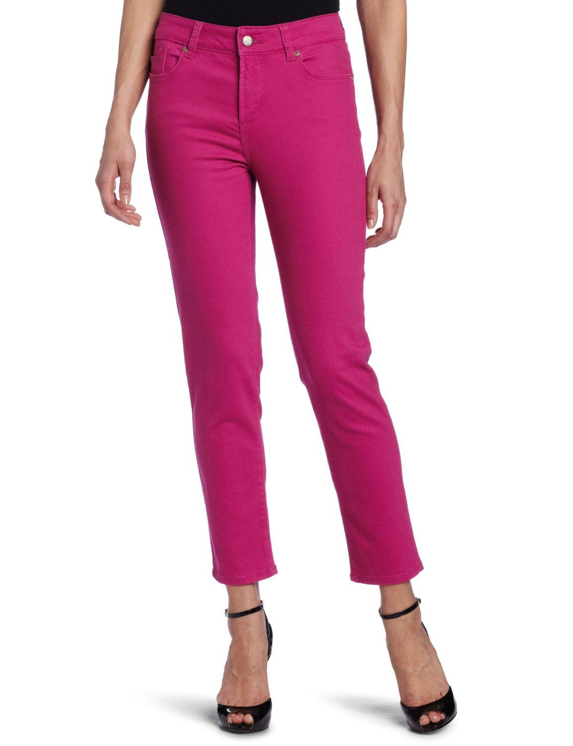 Not Your Daughter\'s Jeans Women\'s Alisha Fitted Ankle Jean, Fuchsia ...