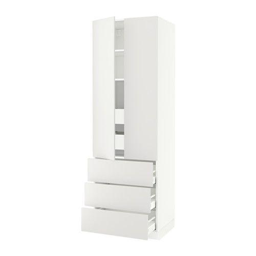 SEKTION High cabinet w/2 doors & 5 drawers, white Maximera