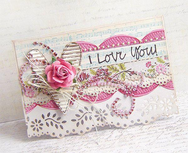 Valentine card II -*Prima* - Scrapbook.com
