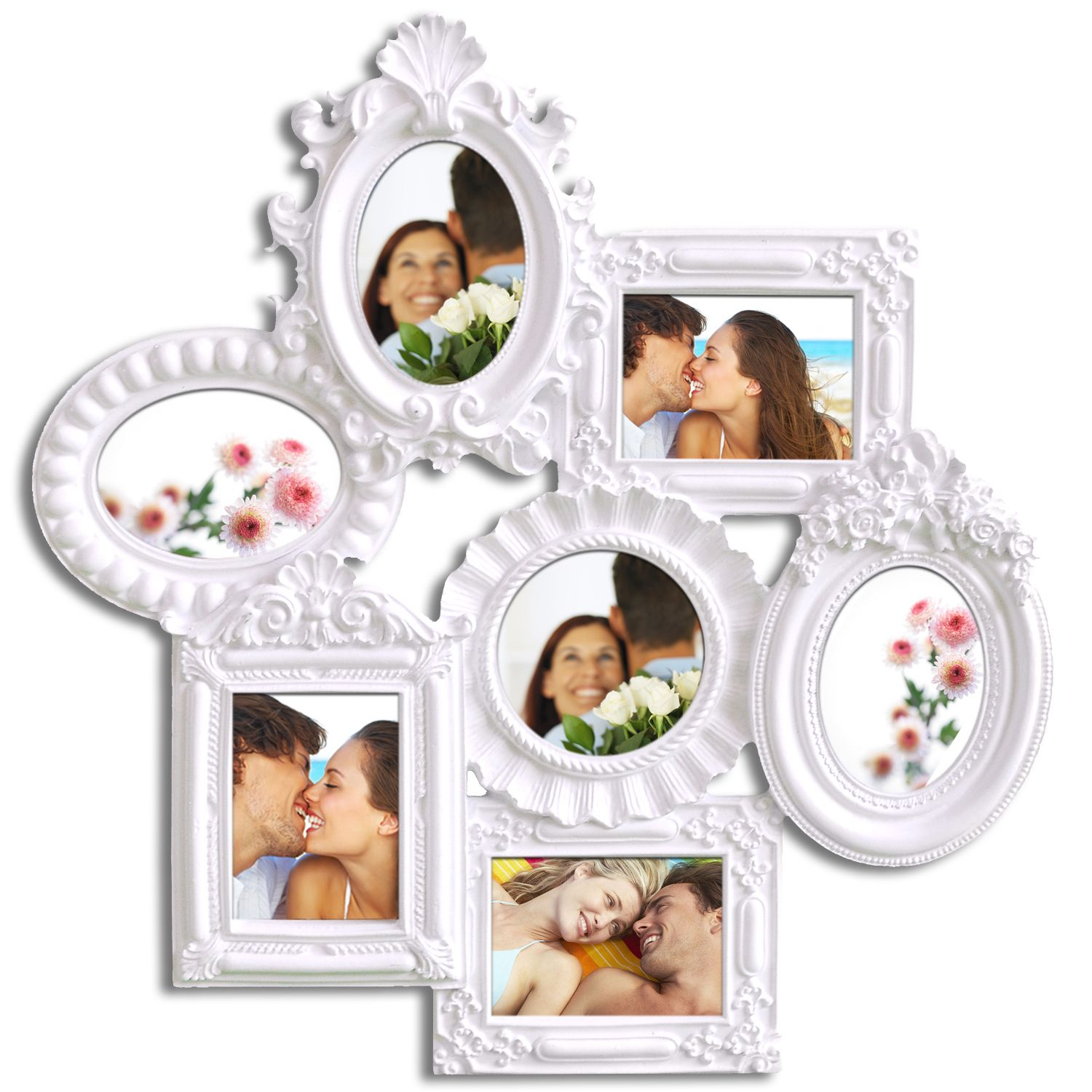 Adeco Decorative White Polyresin Highly Detailed Wall Hanging ...