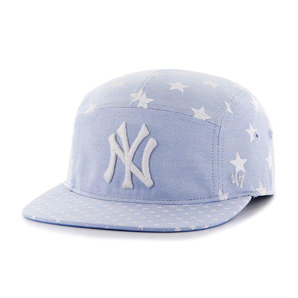 b885cfa389ab8 New York Yankees Alexa Five Panel Periwinkle 47 Brand Womens Hat ...