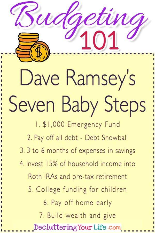 Budgeting 101 - Dave Ramsey\u0027s Debt Snowball to be Debt Free in 2018 - dave ramsey zero based budget spreadsheet