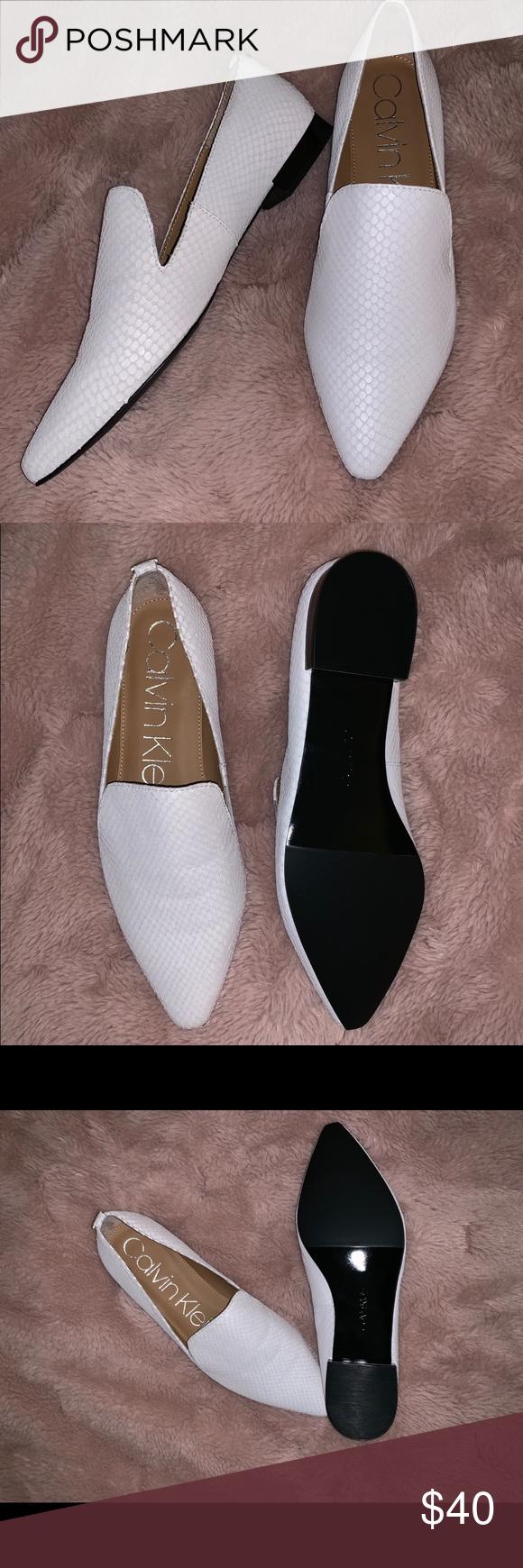 9ab495ee700 Calvin Klein Snake Skin Loafers New in box! Calvin Klein Matte Snake Skin  flats.
