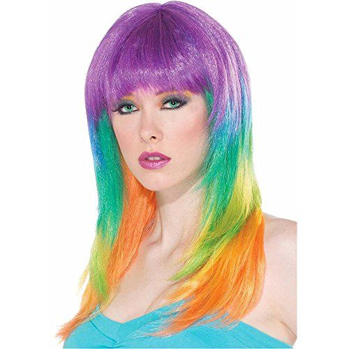 Club Candy Prism Wig - One Size -- Be sure to check out this awesome product.