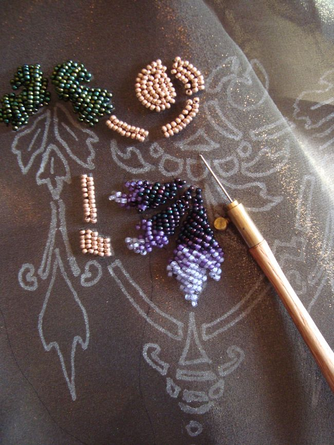 Couture style beadwork class at columbus college of art
