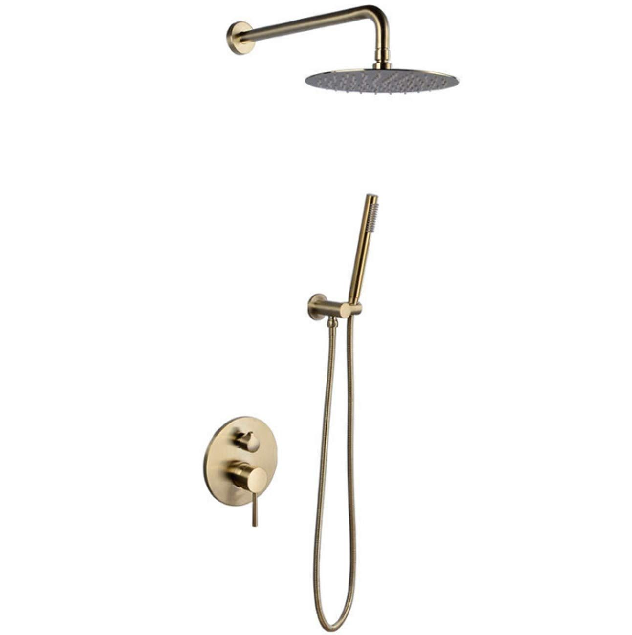 Concealed Shower Mixer Set For Bath Wall Mount Concealed Shower System With 10inch Stainless Steel Top Shower Handheld Shower Systems Hand Held Shower Shower