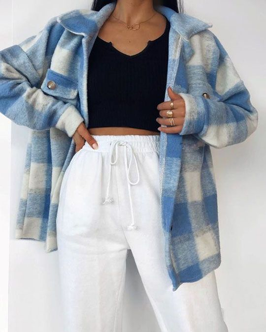 Classic Thick Colorblock Checked Button Down Shirt
