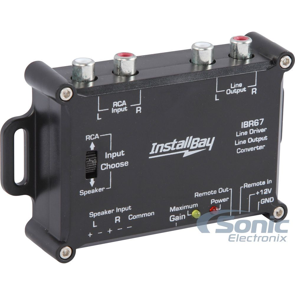 Scosche Slc4 Line Output Converter Car Amplifier Car Audio Installation Car Stereo Systems