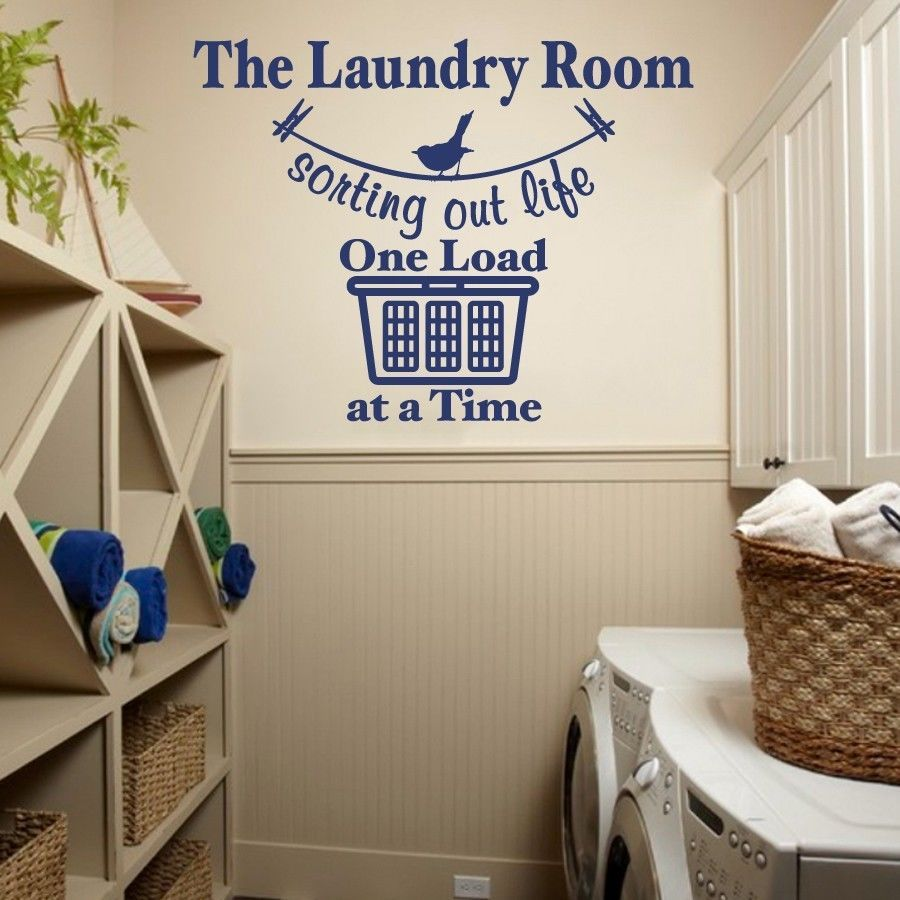 Laundry Room Vinyl Wall Quotes Sorting Out Life Laundry Room Vinyl Wall Quote Sticker Decal 22