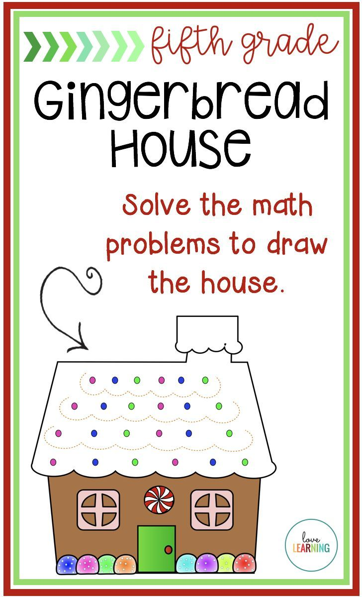 Create a Math Gingerbread House: Fifth Grade Holiday Activity | TpT ...