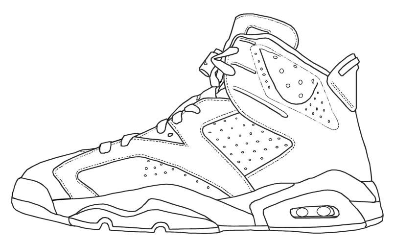 Coloring Jordans Sneakers Drawing, Sneakers Sketch, Sneakers Illustration