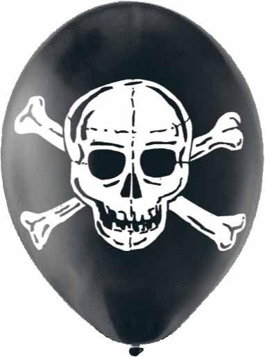 Que te parece este globo de latex con la calavera para decorar tu fiesta pirata?  www.globosdecolores.com