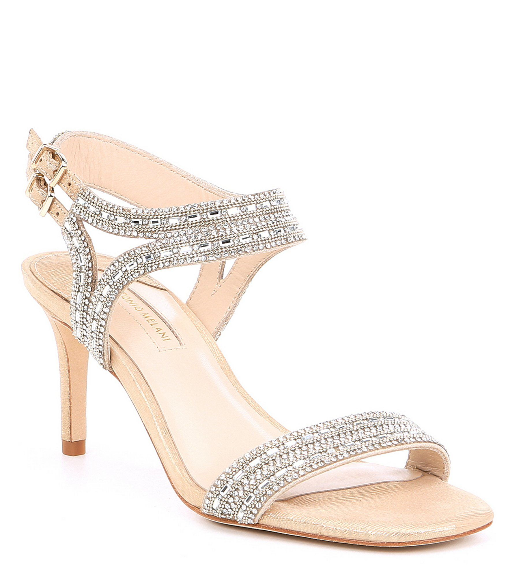 e864e8bd53c Antonio Melani Haelee Rhinestone Dress Sandals  Dillards