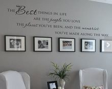 """English quote"""" The Best Things In Life People Places """" Quote Vinyl Wall Decal Waterproof and Removable Sticker(China (Mainland))"""