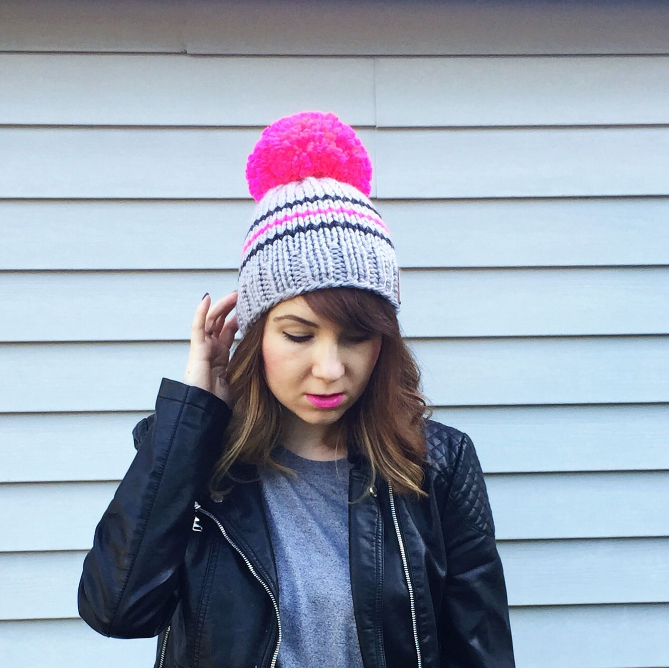 Hot pink winter hat a7a8190755f