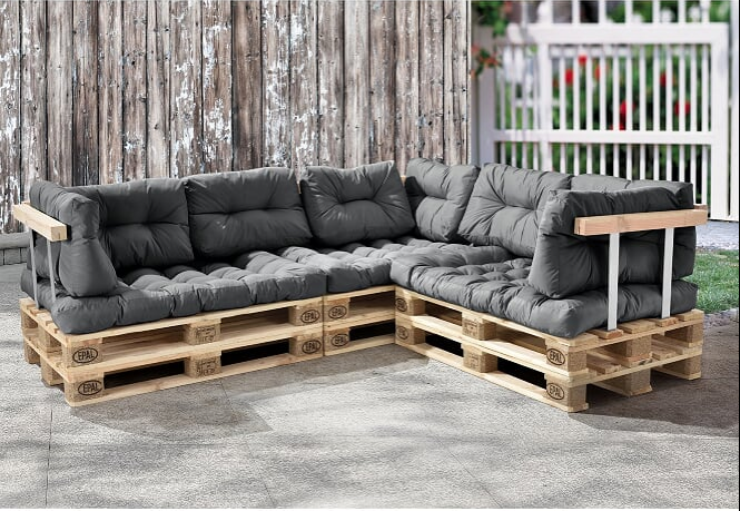 Rückenkissen Lounge Set 120 PALETTENKISSEN Palettauflagen Sitzkissen