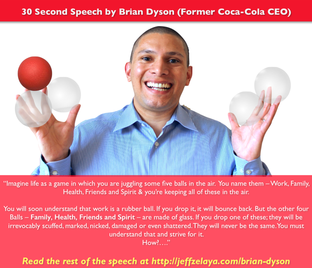 Coca Cola Quotes 30 Second Speechbrian Dyson Ceo Of Cocacola  My Favorite