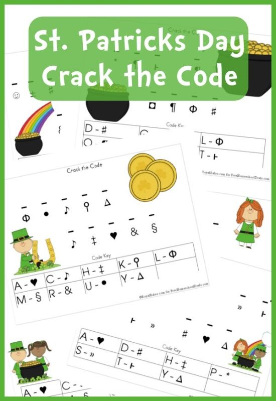 Free Worksheets St Patricks Day Crack The Code Printable Set