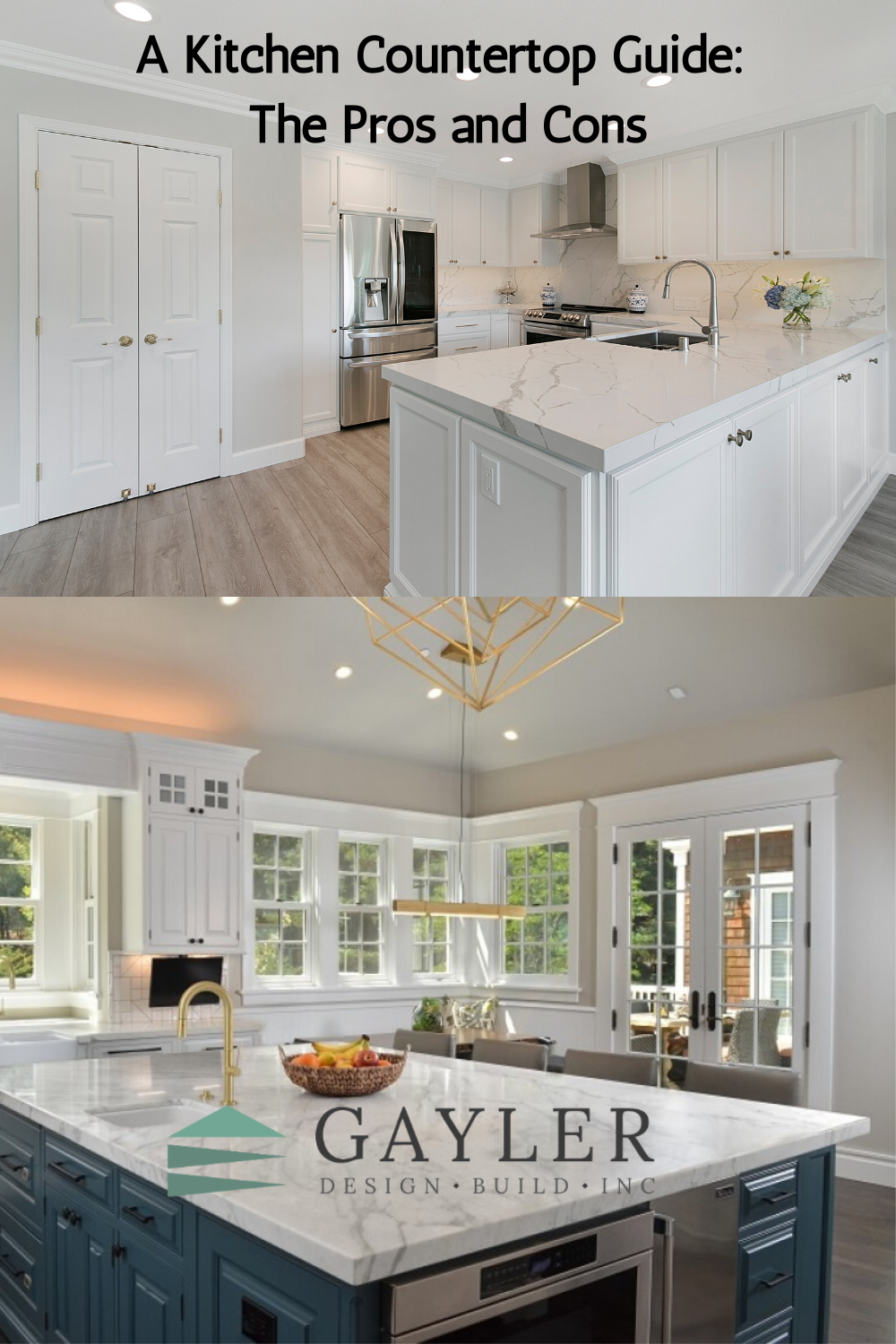 A Kitchen Countertop Guide The Pros And Cons Kitchen Countertops Countertops Kitchen