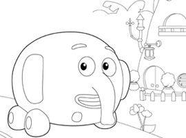 Disney Junior Udskriv Og Farvelaeg Junglehjul Maleboger