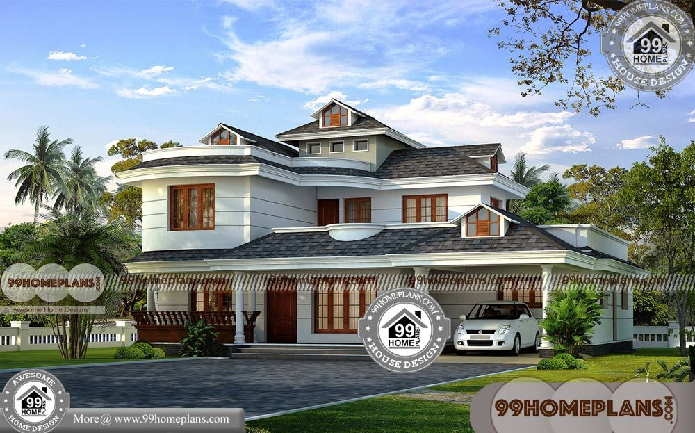Kerala Style Beautiful Cheap Homes To Build 500 Ultra Modern House Design Collections With 3d El Cheap House Plans House Arch Design Traditional House Plans