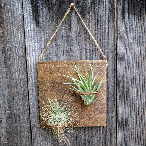 Hanging Wood Plaque with Two Handcrafted Copper Hangers by EmmaClaireShop.com