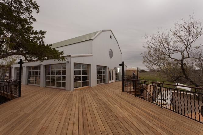 Angular, industrial building design at TerrAdorna retreats, weddings, events