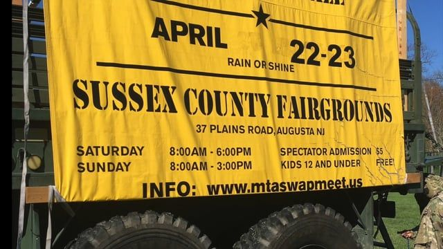 The Military Transport Association located in New Jersey hosted its 16 Annual Military Vehicle Show and Swap Meet at the Sussex County Fairgrounds on Saturday and Sunday - April 22nd and 23rd - 2017. Military Exhibits, Vendors, Great Food and Fun for all, including veterans, families and children. On Sunday there were Re-Enactors in uniform displaying vintage restored military vehicles from WWII, Vietnam and current military deployments. Information on their show web: MTASWAPMEET.COM…