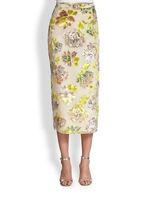 Floral Pencil Skirt $2495.0 by Saks Fifth Avenue
