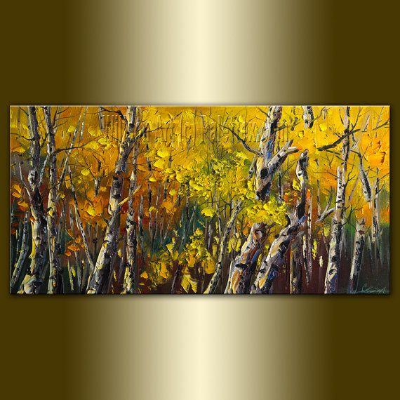 Modern Forest House: Love This:Original Birch Tree Forest Textured Palette