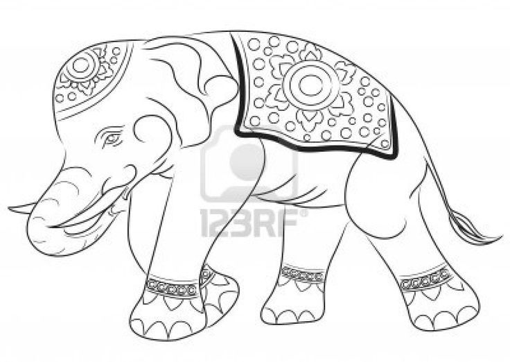 Asian Elephant Coloring Page Google Search Elephant Coloring