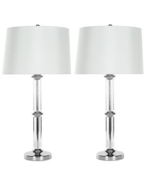 Safavieh Set of 2 Vendome Crystal Table Lamps - Clear