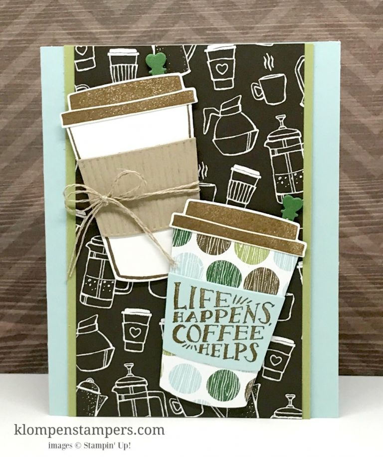 Having Fun with the Coffee Cafe Bundle | Klompen Stampers